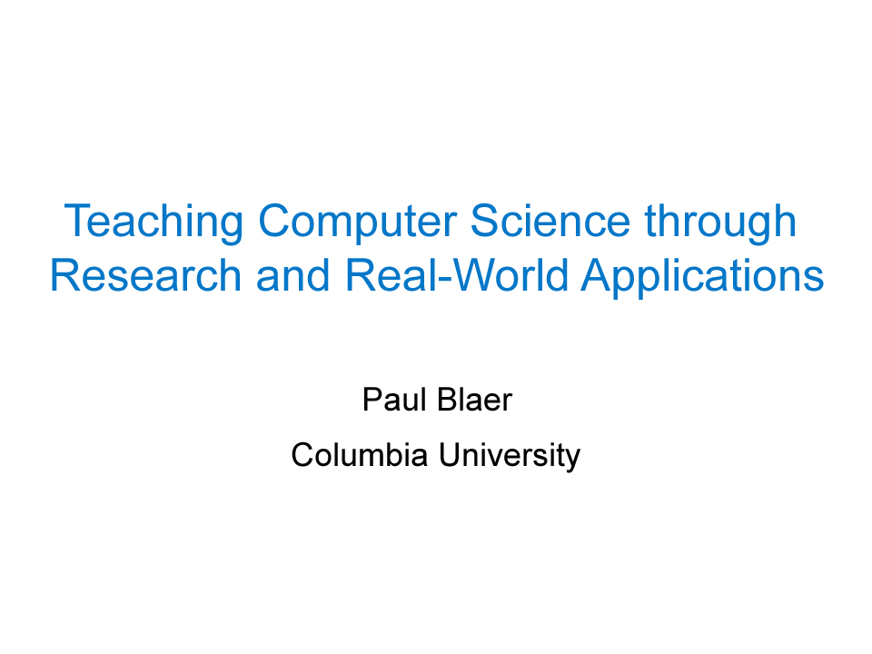 spring 2015  department of computer science columbia