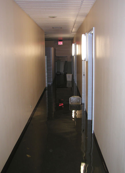Pictures from the cs department flood may 21 2002 for Hallway photos