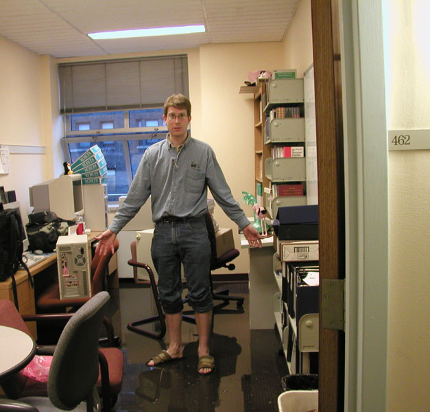 Pictures from the CS Department Flood, May 21, 2002