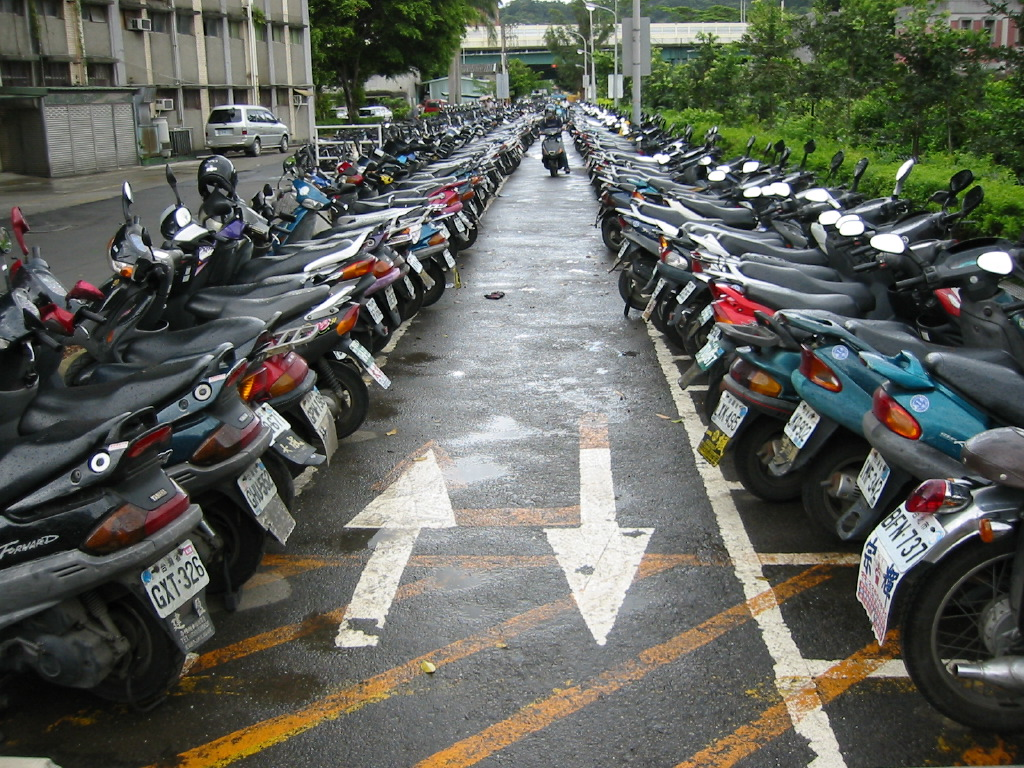 Electric Moped Scooter >> Scooter Parking at Taida University