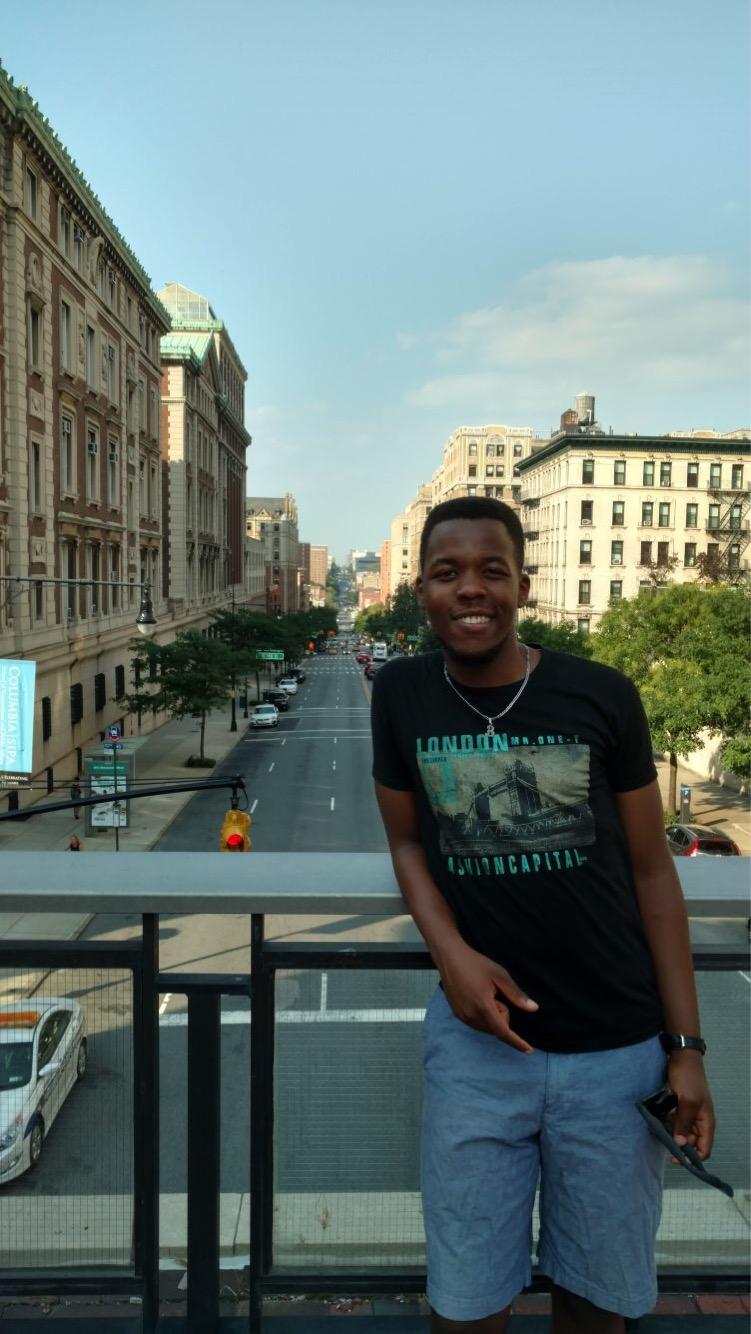 Alex Horimbere on the day when he arrived at Columbia.