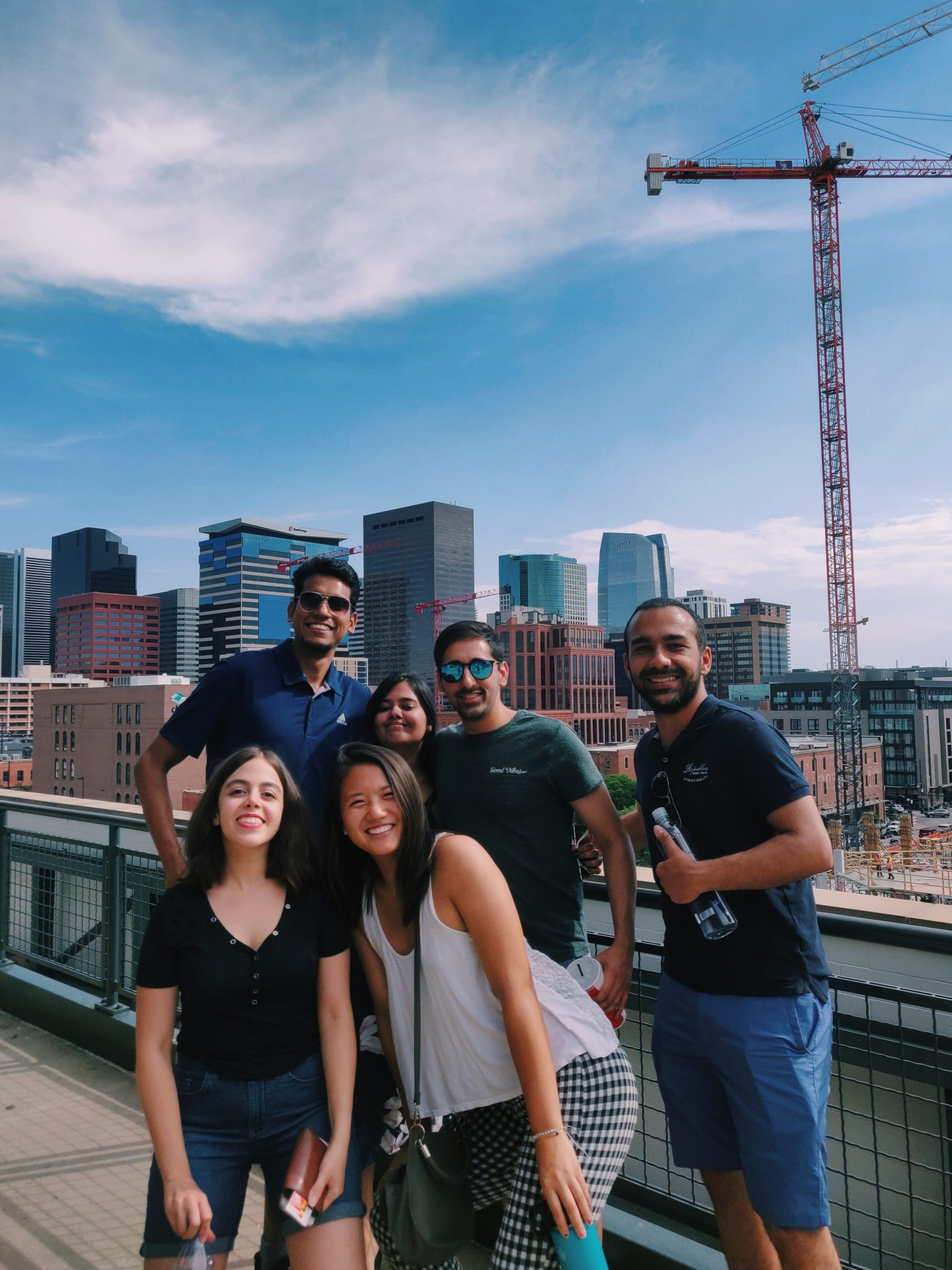 Audrey Cheng with fellow SWE interns at a Salesforce intern event in Denver, Colorado.