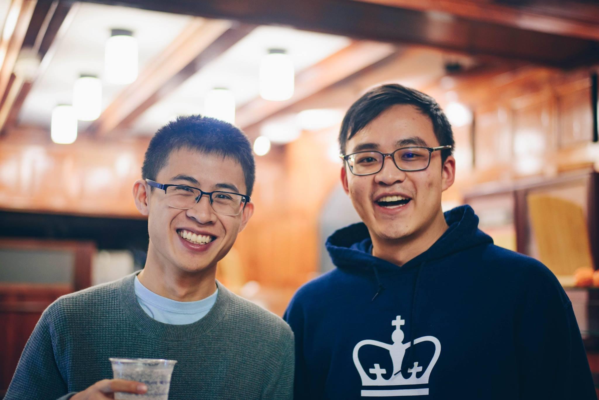 Bryan Lei and John Wang at the AP Hackathon in Spring 2018