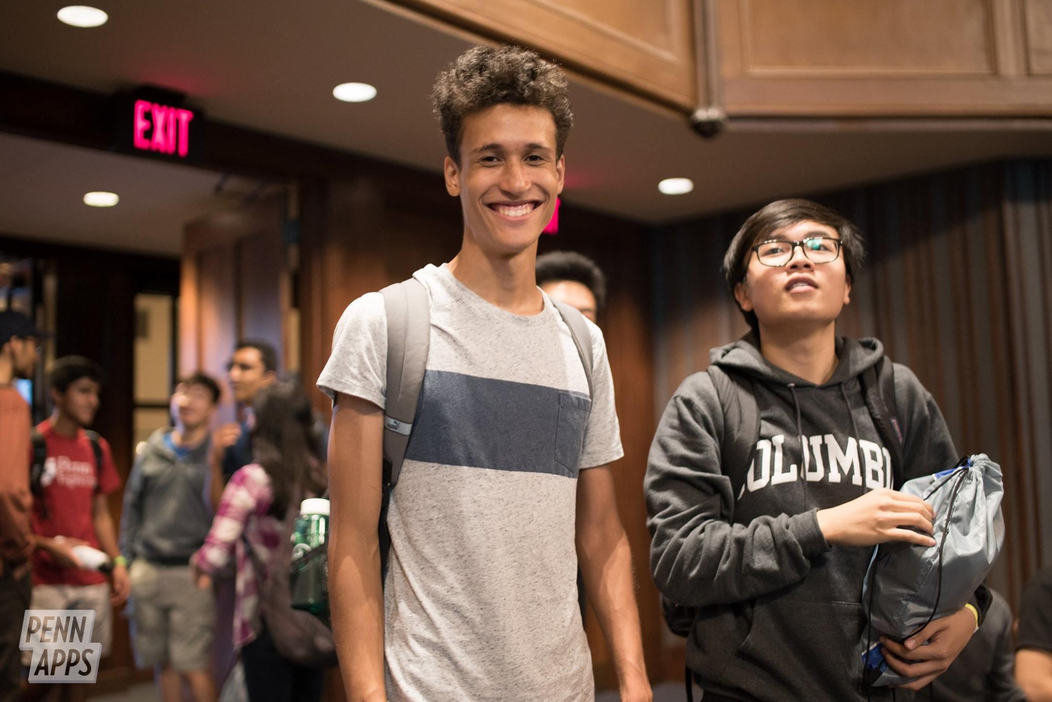 Ciaran Beckford and The Ngo at the PennApps 2017 Hackathon.