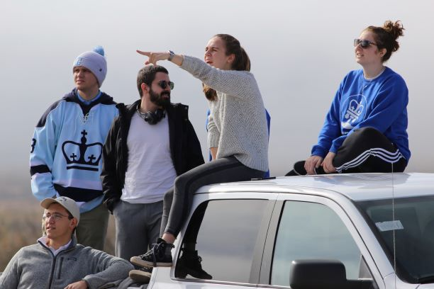 Michael Karasev, Chris Mendell, Rodolfo Raimundo, Nathelie Hager, and Sabrina Selleck. After flying to El Paso during finals week and pulling 3 all-nighters, they were finally able to watch their scientific payload launch on board of Blue Origin's rocket.