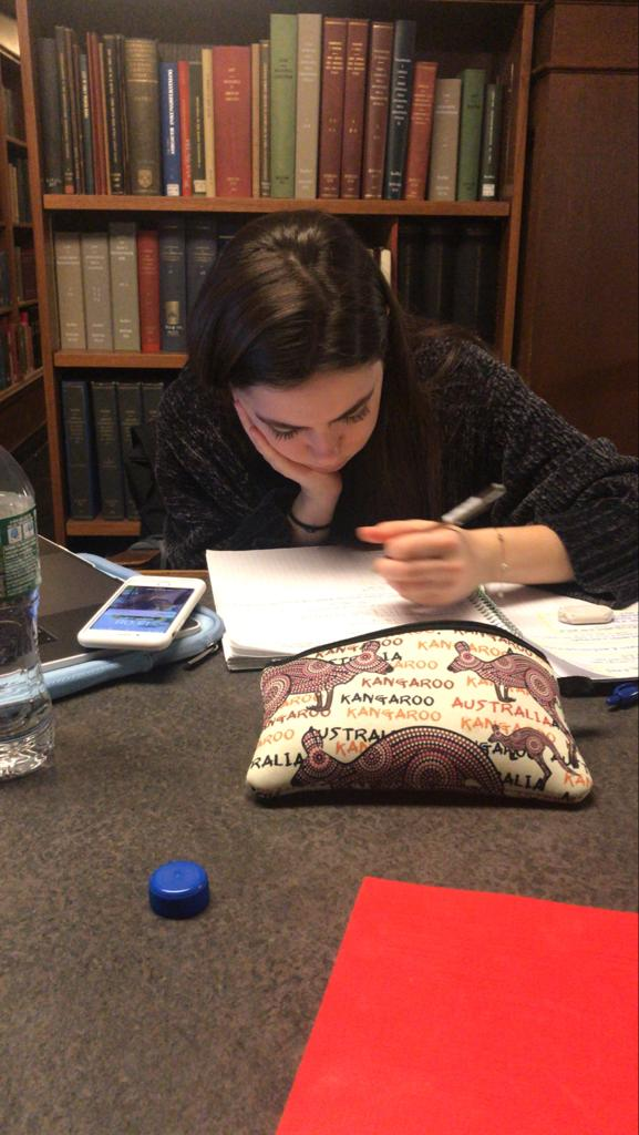 Romy Zilkha studying at Butler Library