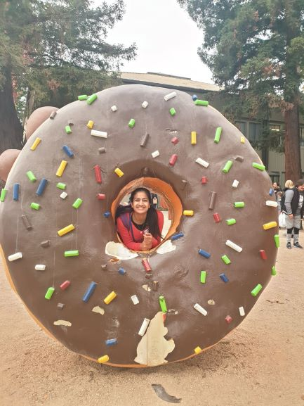 Rupal Gupta at Googleplex, where she interned her junior summer, and will be joining full-time.