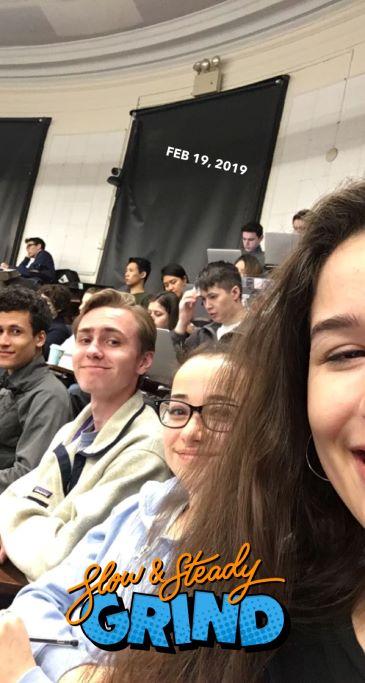 Ryan James and fellow classmates in AP