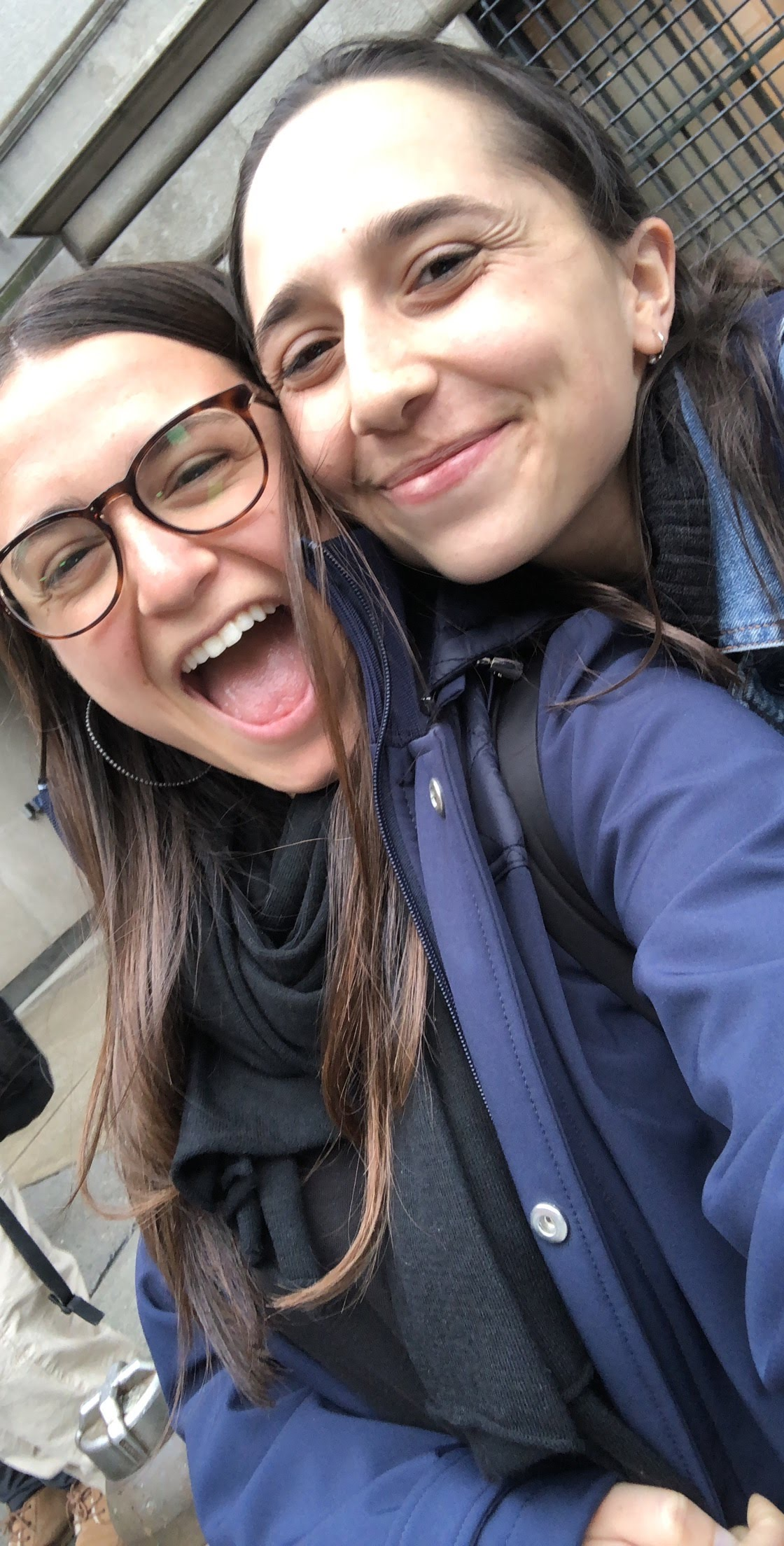 Sara Bernstein and Rebecca Narin (BC '21), who became good friends after taking COMS 1004 together, as they finished their last class of Freshmen year!