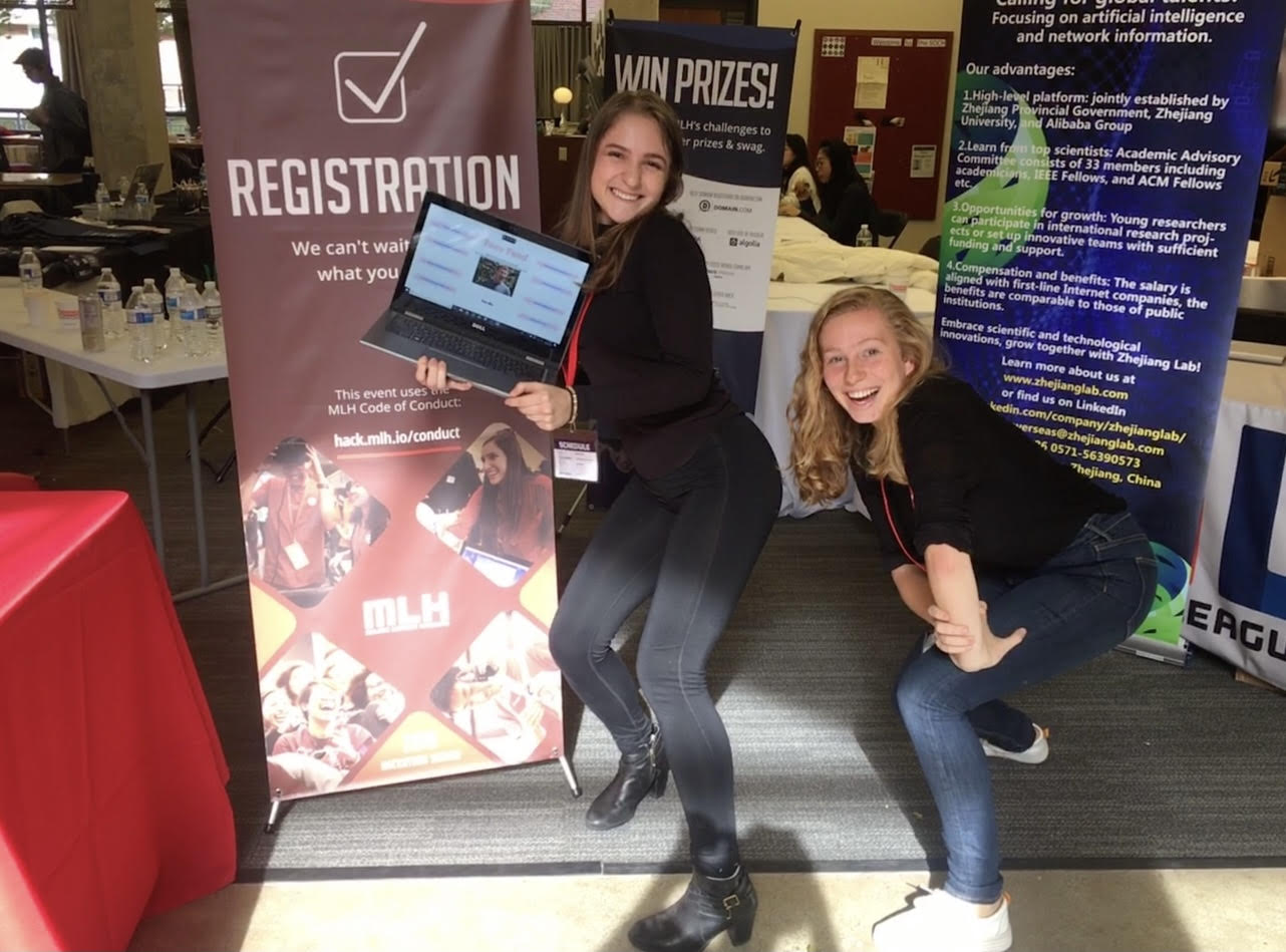 Sarah Radway and Sophia Kolak at Hack Harvard